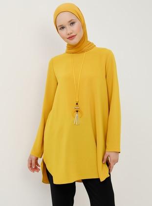 Yellow - Mustard - Crew neck - Tunic