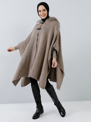 Mink - Unlined - Acrylic -  - Poncho