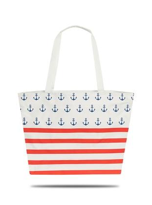 Satchel - Red - Navy Blue - Beach Bags