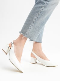 White - High Heel - Shoes