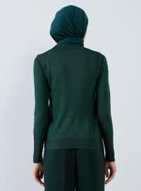 Green - Crew neck - Acrylic -  - Jumper