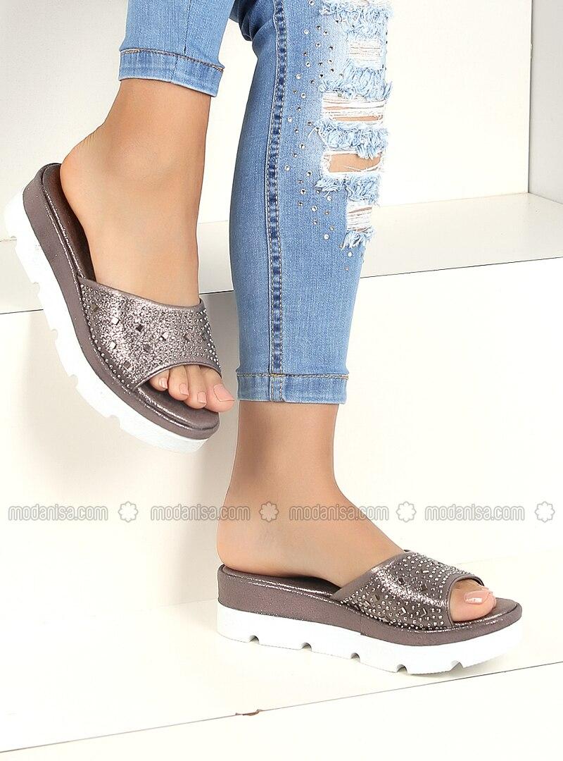 Silver - Sandal - Slippers