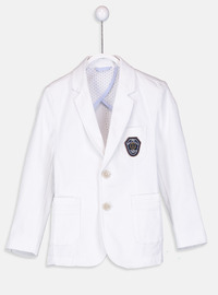 White - Boys` Jacket