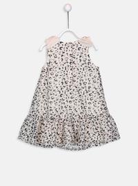 Printed - Beige - Baby Dress