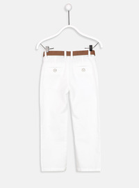 White - Boys` Pants
