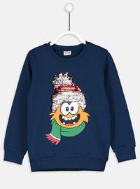 Navy Blue - Boys` Sweatshirt