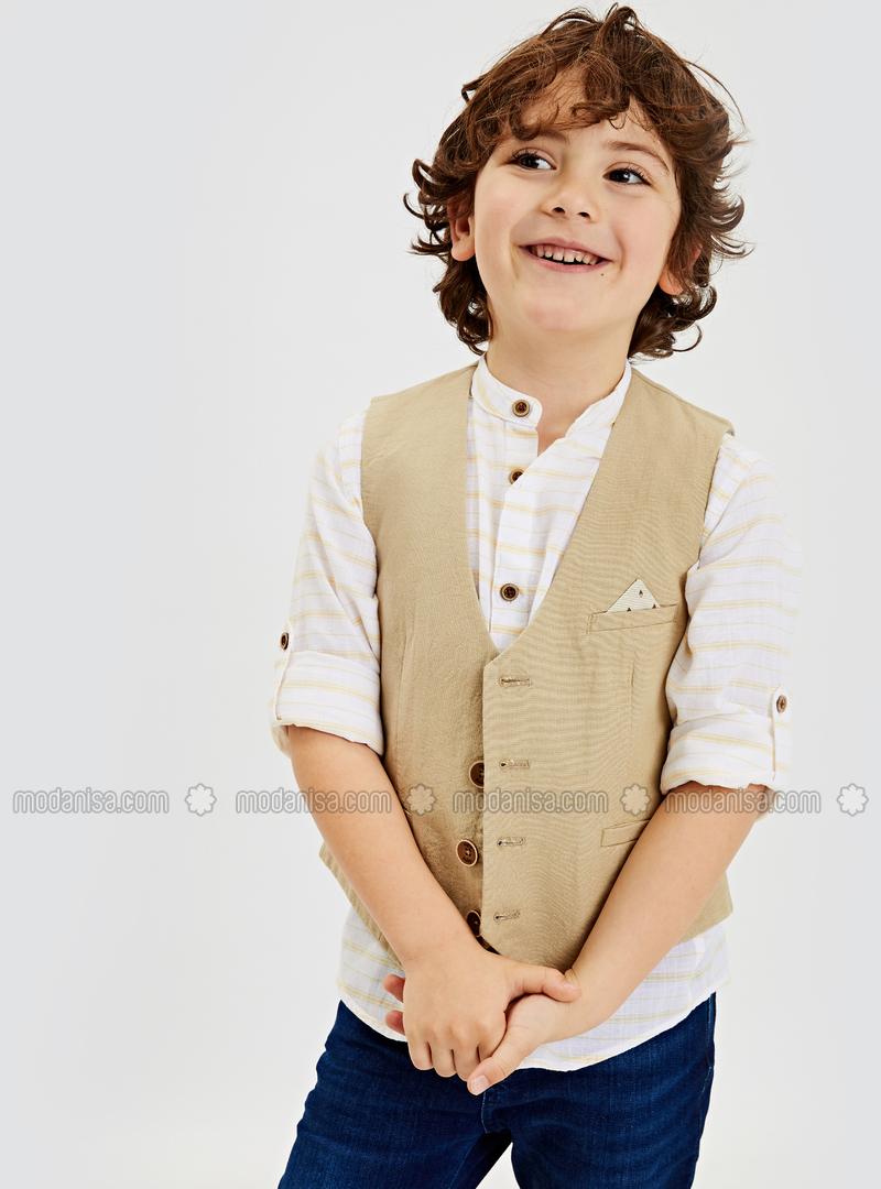 Khaki - Boys` Jacket