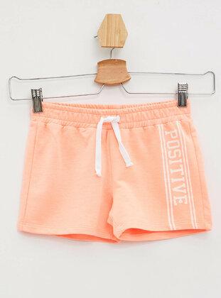 Orange - Girls` Shorts