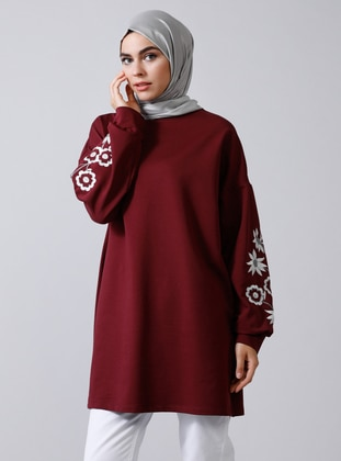Plum - Crew neck -  - Tunic