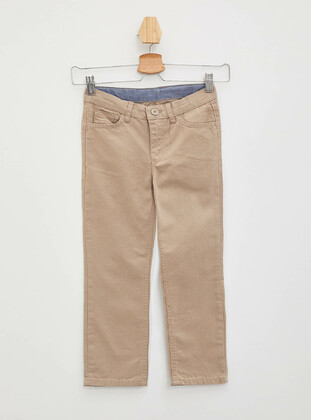 Beige - Boys` Pants - DeFacto