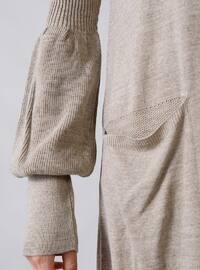 Mink - Crew neck - Unlined - Acrylic -  - Dress