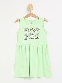 Green - Girls` Dress