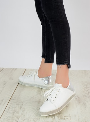 White - Silver tone - Casual - Shoes