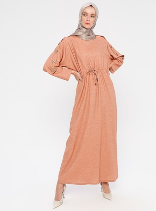 Terra Cotta - Crew neck - Unlined - Cotton - Dress