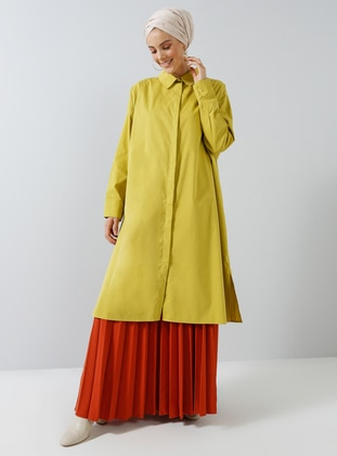 Yellow - Point Collar - Cotton - Tunic