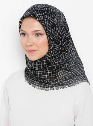 Black - Printed - Plain - Cotton - Scarf