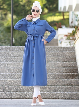 Indigo - Polo - Unlined - Acrylic - Dress