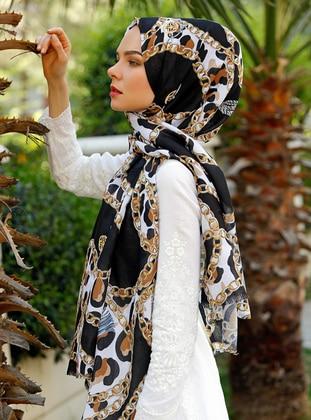 Multi - Leopard - Leopard - Printed - Shawl - Şal Evi