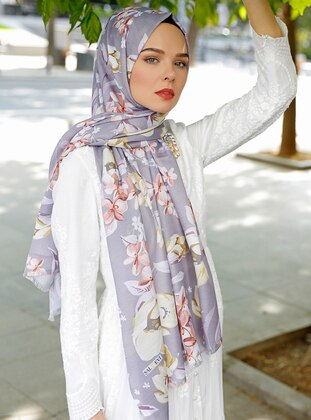 Purple - Printed - Shawl - Şal Evi