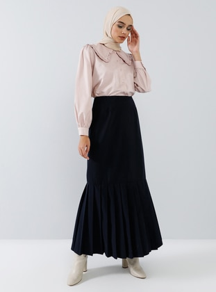 Navy Blue - Unlined - Skirt