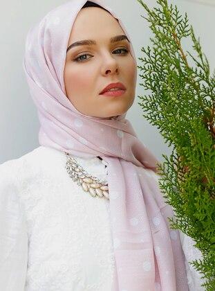 Powder - Printed - Shawl - Şal Evi