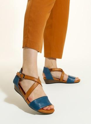 Blue - Tan - Sandal - Sandal
