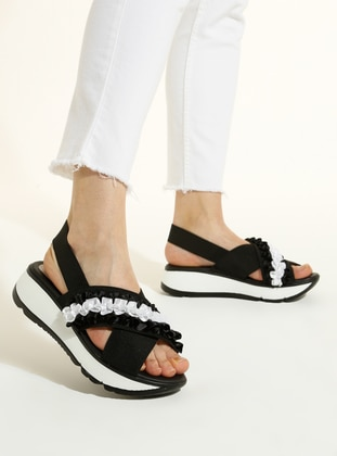 Black - White - Sandal - Sandal