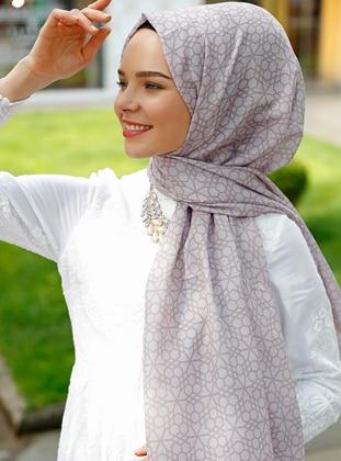 Mink - Printed - Shawl - Şal Evi