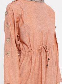Terra Cotta - Crew neck - Unlined - Cotton - Dress