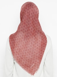Dusty Rose - Printed - Plain - Cotton - Scarf