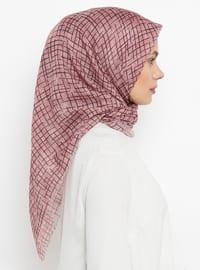Lilac - Printed - Plain - Cotton - Scarf