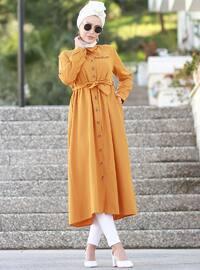 Hardal - Polo Yaka - Astarsız Kumaş - Akrilik - Elbise