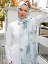 Yellow - Multi - Printed - Shawl - Şal Evi