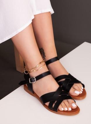Black - Sandal - Sandal - Ayakkabı Havuzu
