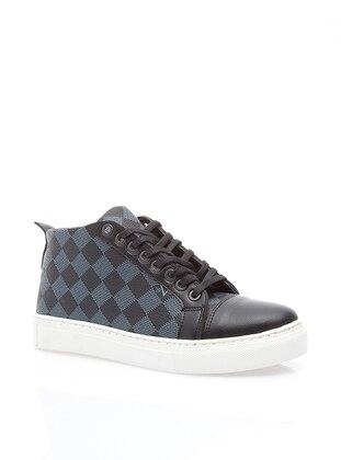 Gray - Navy Blue - Boot - Boots - Ayakkabı Modası