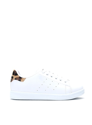 White - Leopard - Casual - Shoes