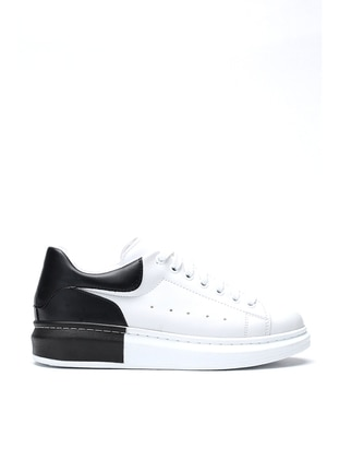 Black - White - Casual - Shoes