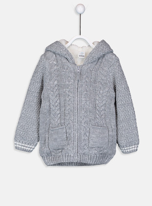 Gray - Baby Cardigan - LC WAIKIKI