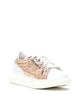 White - Gold - Casual - Girls` Shoes