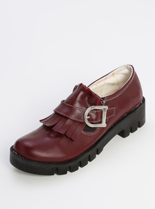 Maroon - Casual - Girls` Shoes