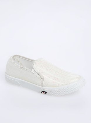 White - Flat - Girls` Flat Shoes