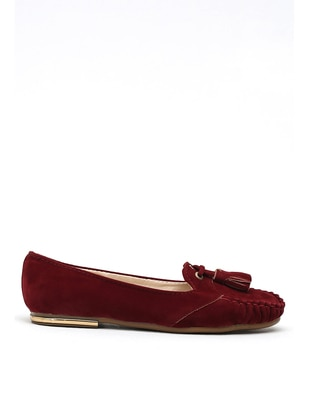 Maroon - Flat - Girls` Flat Shoes - Y-London