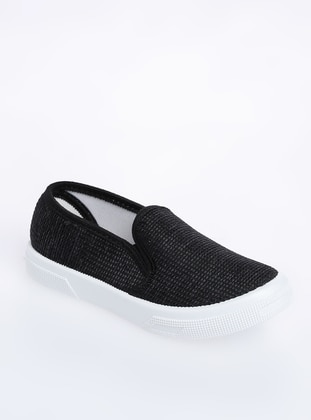 Anthracite - Flat - Girls` Flat Shoes - Ayakkabı Modası