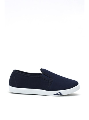 Navy Blue - Flat - Girls` Flat Shoes - Y-London