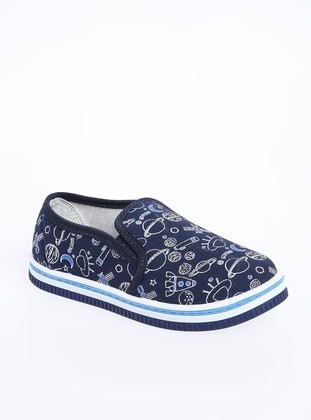 Navy Blue - Flat - Girls` Flat Shoes