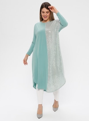 Mint - Crew neck - Plus Size Tunic