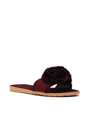 Maroon - Sandal - Slippers - Y-London