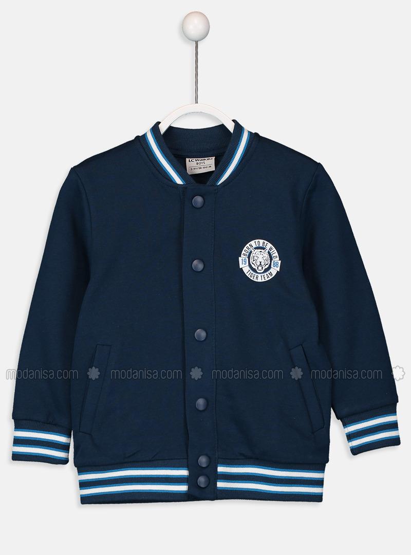 Navy Blue - Boys` Cardigan