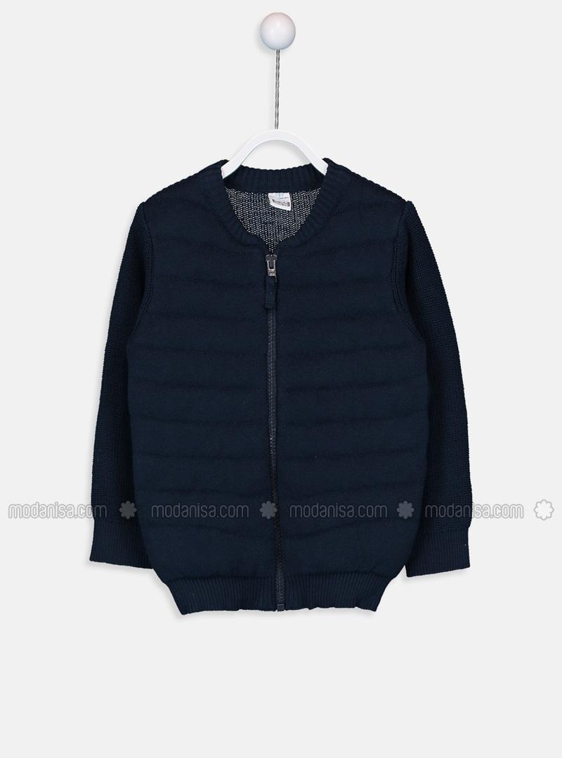 Navy Blue - Baby Cardigan