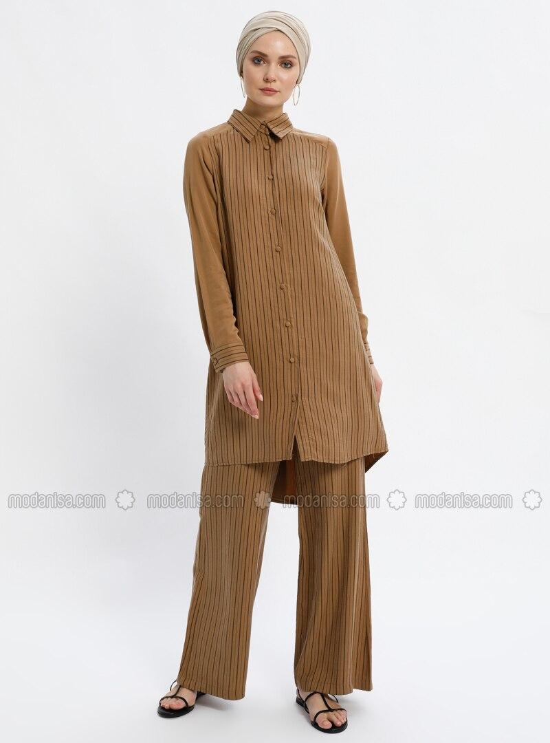 Camel - Stripe - Unlined - Suit